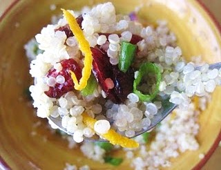 Post image for Quinoa Salad with Cranberries, Scallions & Orange Rind