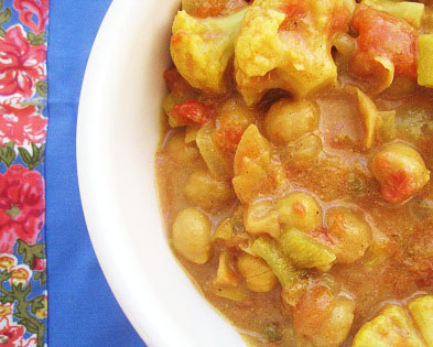 Post image for Curried Cauliflower and Chickpea Stew