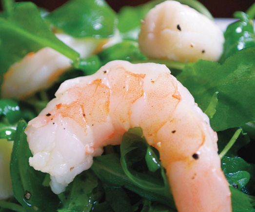 Post image for Seafood and Arugula Salad from PartyBluPrints