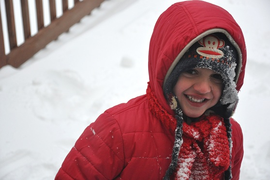 When the Weather Outside is Frightful….make Snow Cream and Play Anyway!