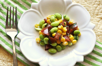 Post image for Blueberry Coffee Cake, Edamame Corn Salad, and The Guiness Book of World Records