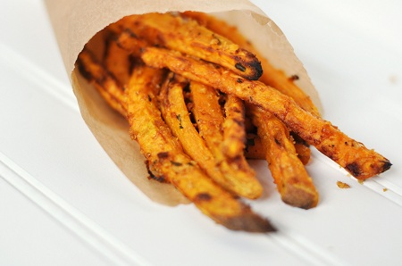 Post image for Oven-Baked Panko Asiago Sweet Potato Fries and A Hiccup at Woods Hole