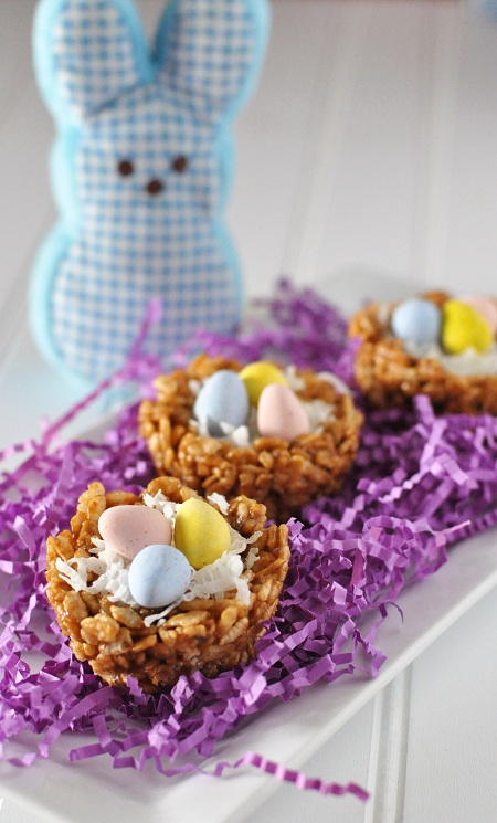 Post image for Brown Rice Nut Butter Nutella Crispy Treats Easter Nests & A Corn Party