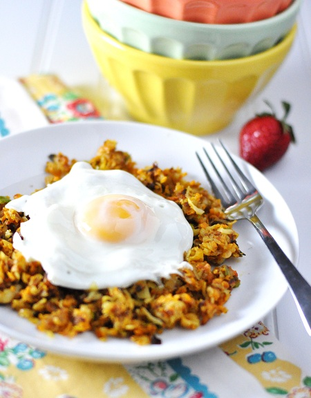 Post image for Quick Breakfast: Sweet Potato Leek Hash Browns On The Fly and The UCONN Huskies
