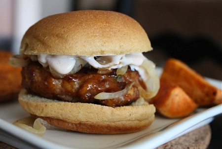 Post image for Smoky-Sweet Chipotle Turkey Burgers by Aggie's Kitchen
