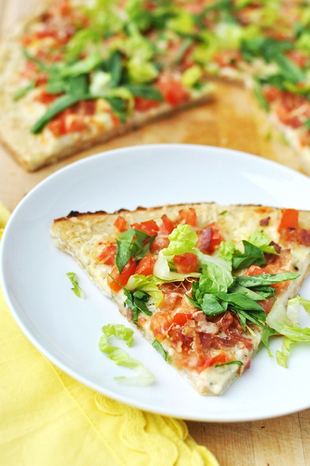 Post image for Bacon, Lettuce and Tomato (BLT) Pizza