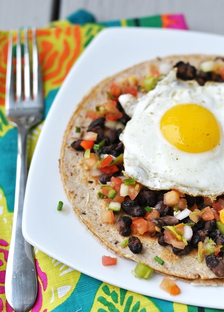 Post image for Quick Mexican Breakfast Tostada Recipe