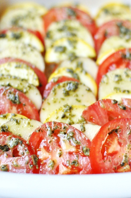 Post image for Baked Potato, Tomato & Zucchini Pesto Casserole Recipe