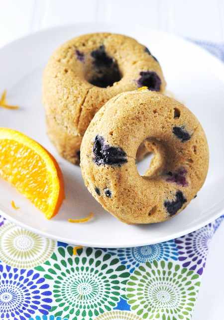 Citrus & Blueberry Baked Muffin Donuts: Secret Recipe Club