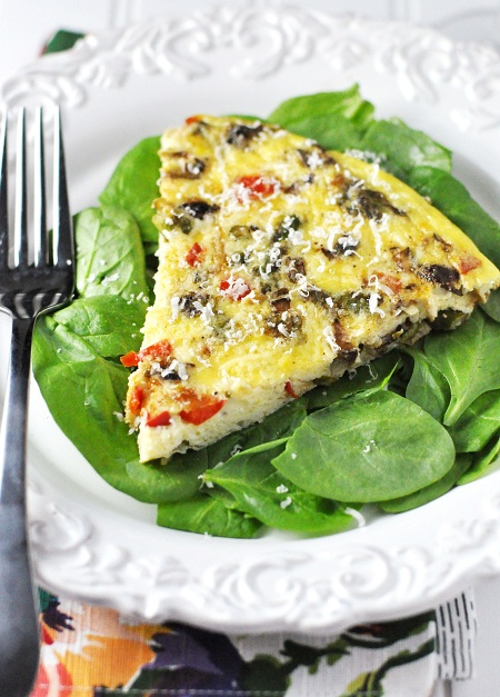 Post image for Asparagus, Mushroom & Red Pepper Frittata with Manchego Cheese