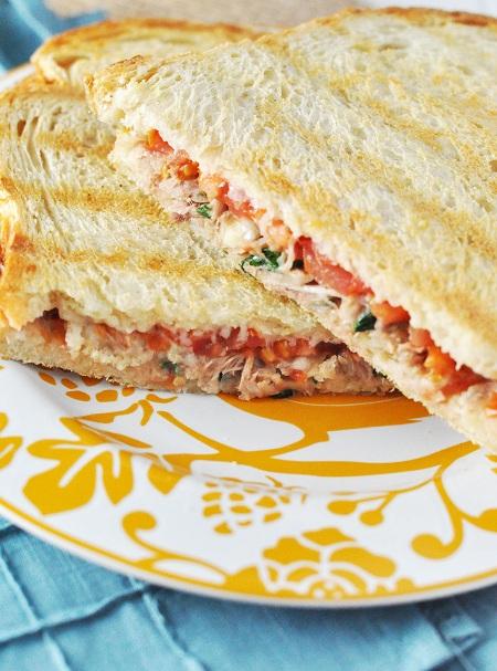 Tuna & Bean Melt with Tomato and Gruyere Cheese