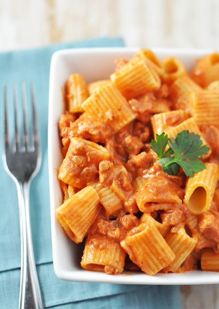 Post image for Portuguese Sausage & Rigatoni