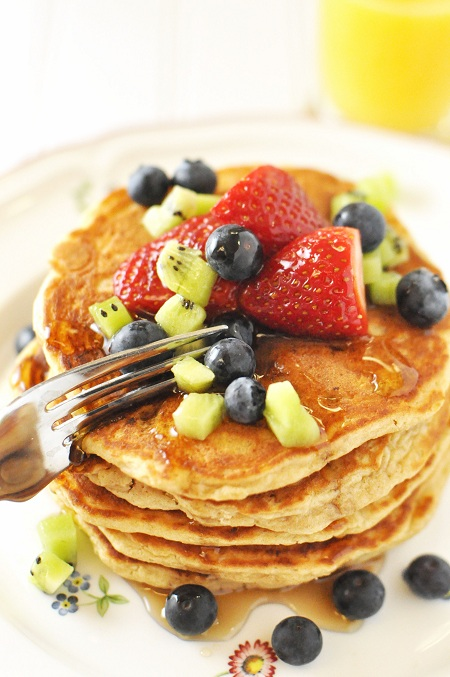 Post image for The Best and Most Famous Wheat Germ Pancakes Recipe