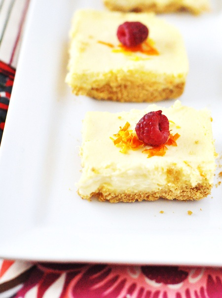 Post image for Gluten Free Citrus Cheesecake Bars Recipe With Orange and Lemon