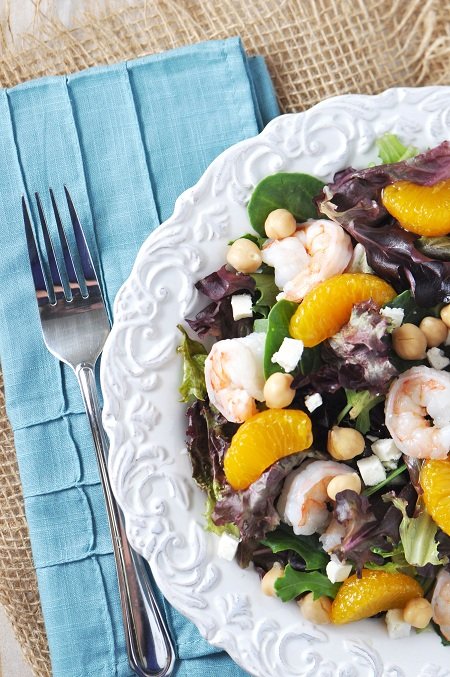 Post image for Shrimp, Chickpea & Mandarin Orange Salad