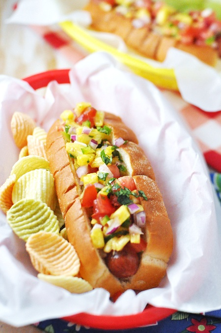 Hawaiian Hot Dogs for Pinterest
