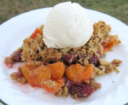 Sweet Cherry Rhubarb Semolina Cake With Candied Clementines A Photo ...