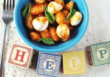 Potato Gnocchi & Mozzarella in Marinara: Would you call it Linner, Dinner #1 or Dinner #2?