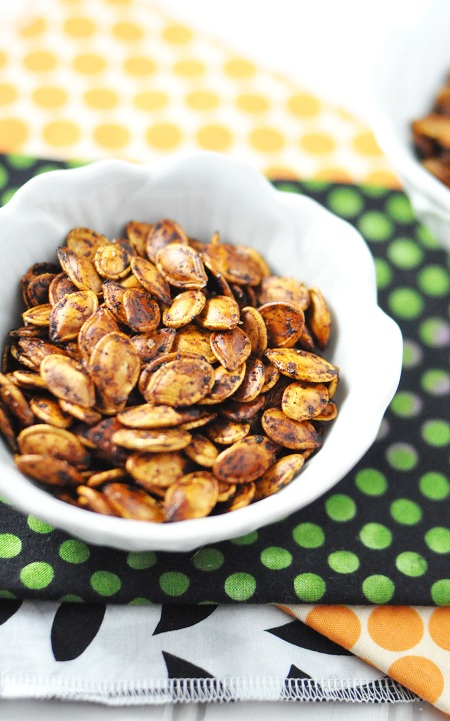 Post image for Fiery & Spooky Sriracha Roasted Pumpkin Seeds