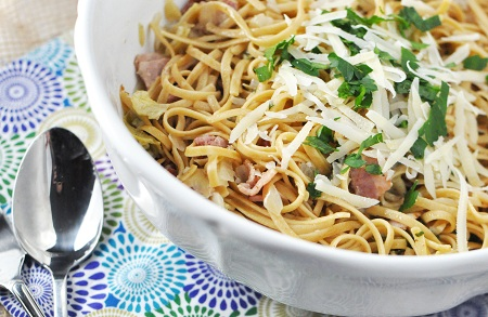 Sharing & Caring over Fat Spaghetti with Bacon and Artichokes