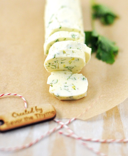 Post image for Homemade Christmas Gift Idea: Savory Compound Butter Recipe with Sage, Rosemary, Thyme & Lemon