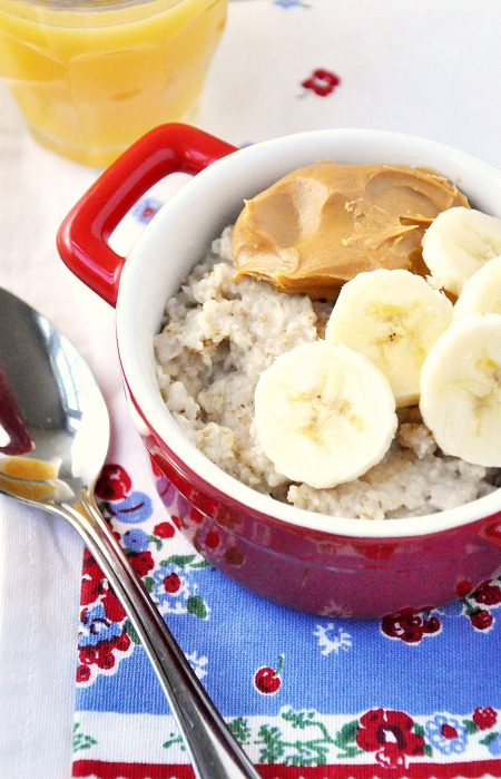 Peanut Butter & Banana Oatmeal Breakfast Recipe 1
