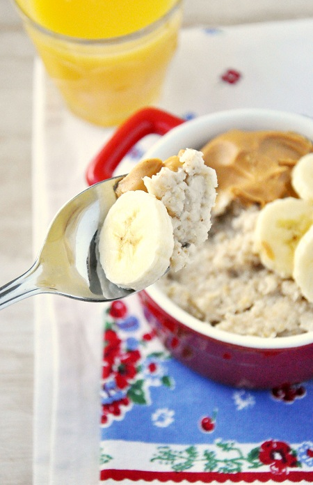 Peanut Butter & Banana Oatmeal Breakfast Recipe 2