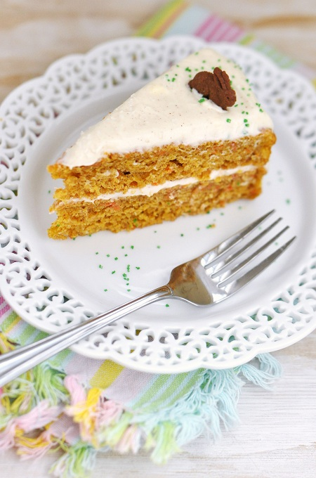 Carrot Juice Carrot Cake with Light Cinnamon-Cream Cheese Frosting ...
