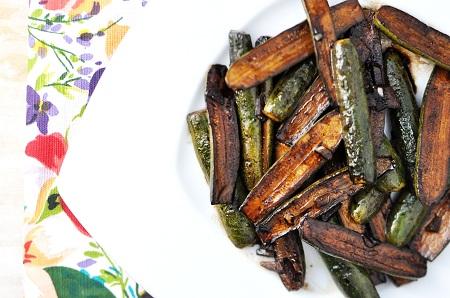 Sauteed Balsamic & Garlic Baby Zucchini Recipe