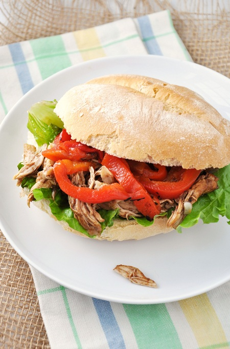 Slow-Cooker BBQ & Coffee Pulled Chicken Sandwich Recipe — Savor The ...
