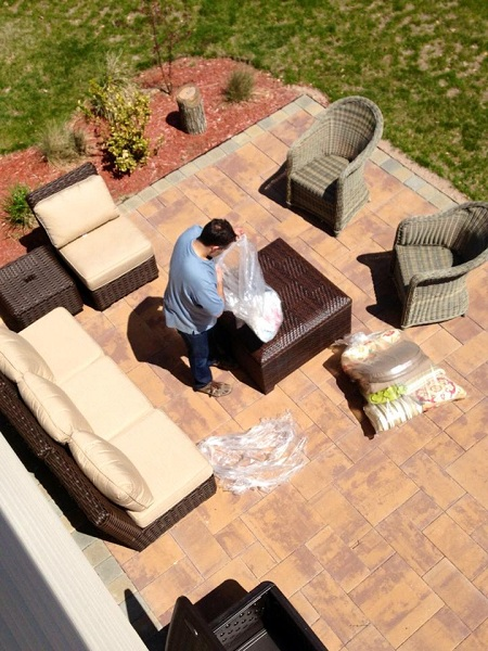 A Day In The Life: Preparing to Stain The Deck