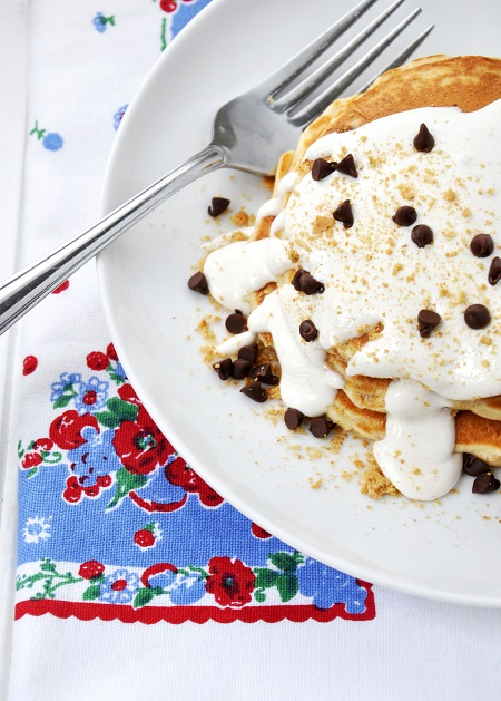 Semi-Homemade S'mores Pancake Recipe for Summertime Fun!