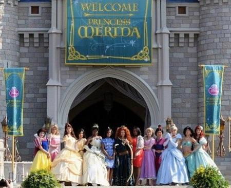 All Princesses at Merida Crowning