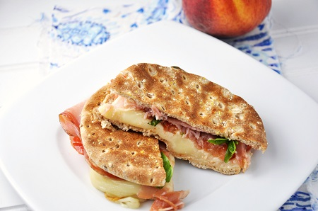 Prosciutto and Caprese Panini Sandwich Recipe