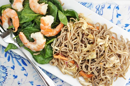 Chilled Shrimp & Soba Noodle Salad Recipe