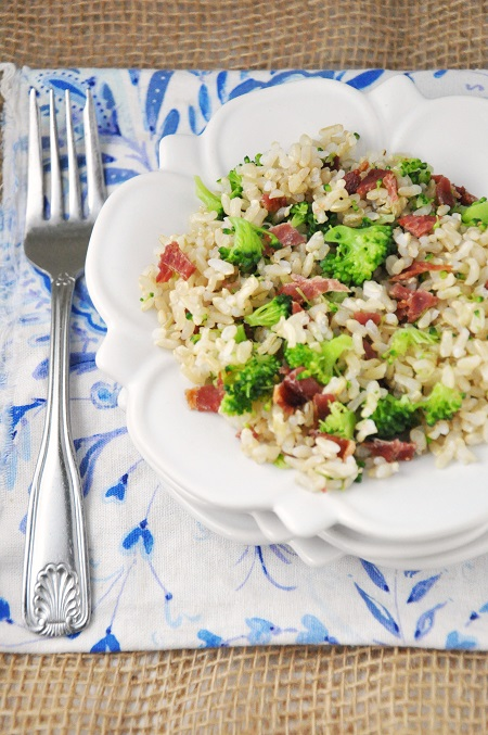 Side Dish Recipe: Brown Rice with Broccoli & Bacon