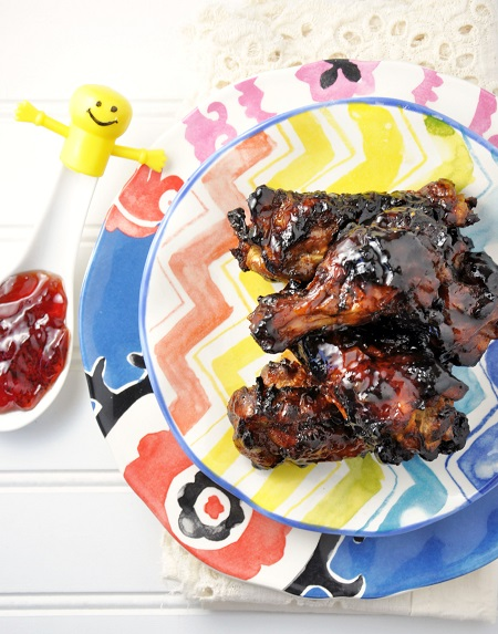 Cranberry Mint Jalapeno Chicken Wings & Legs Recipe