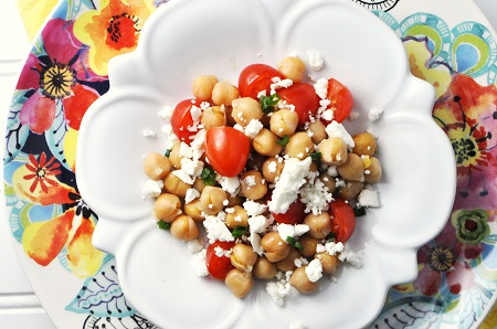 Chickpea, Feta & Tomato Recipe {Salad, Side Dish, Vegetarian, Gluten-Free}