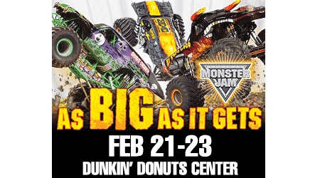 Post image for Monster Jam at the Dunkin Donuts Center: As Big As It Gets {Giveaway}