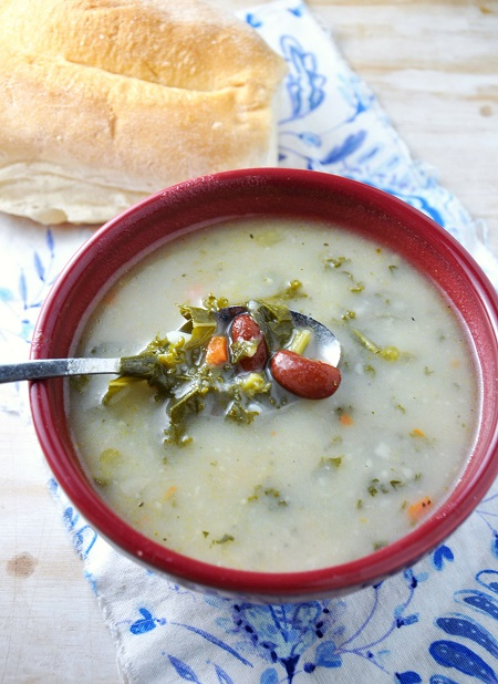 A Not-So-Traditional Portuguese Kale Soup Recipe