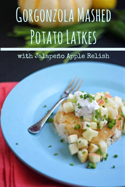 Gorgonzola Mashed Potato Latkes