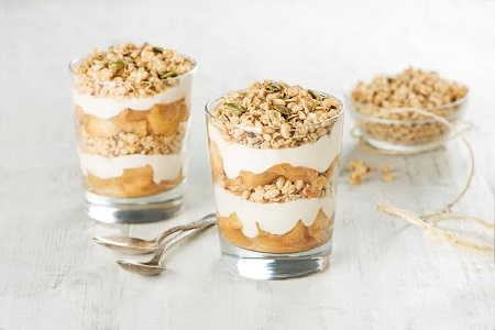 A Must Try Thanksgiving Dessert or Breakfast Recipe: Crunchy Apple Pie Parfaits
