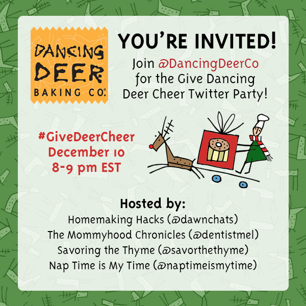 Join is for the Dancing Deer Give Deer Cheer Twitter Party
