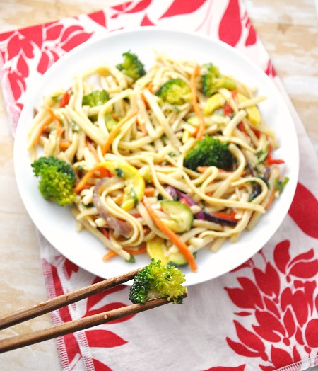 Asian Spring Vegetable Noodle Salad Recipe