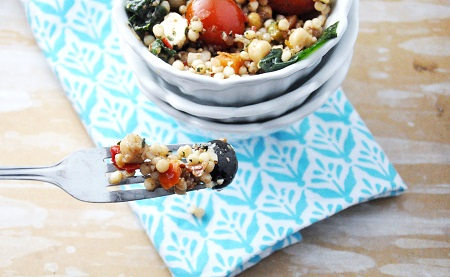 Greek Isreali Couscous side dish