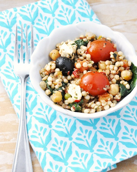 Greek Couscous Side-Dish Salad {Sugar-free, Vegetarian}