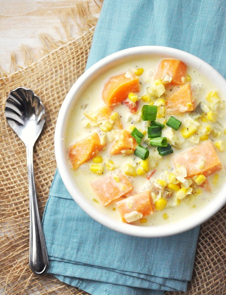 Sweet Potato & Corn Chowder Recipe