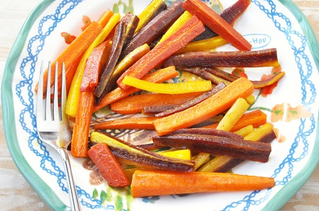 Roasted Tricolor Carrots 2