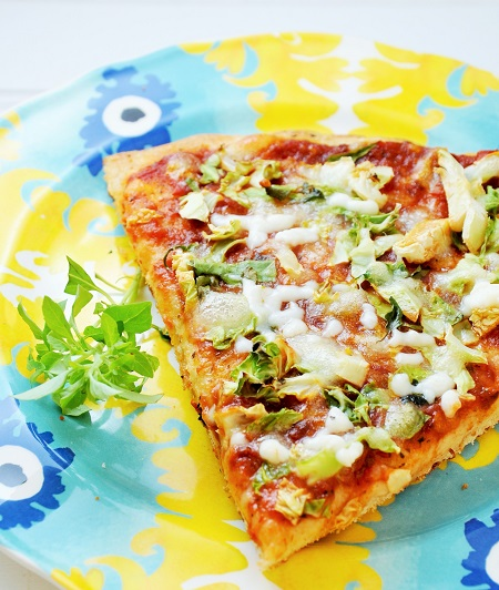 Shaved Brussel Sprout Pizza Recipe