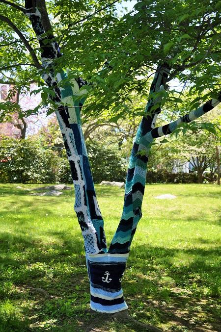 Yarn Bombing at Virtu Art Festival